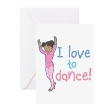 Love Dance Ballet Girl 2 Greeting Cards (Package o