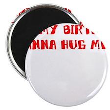IT'S MY BIRTHDAY WANNA HUG ME Magnet