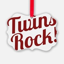 TwinsRockred Ornament