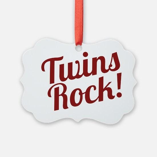 TwinsRockred Ornament
