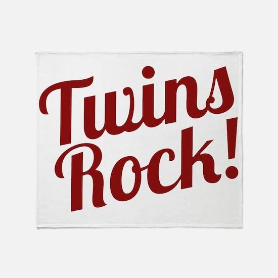 TwinsRockred Throw Blanket