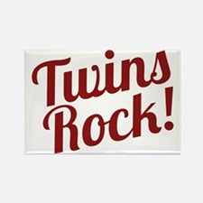 TwinsRockred Rectangle Magnet