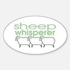 Sheep Whisperer Oval Decal