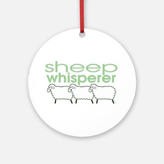 Sheep Whisperer Ornament (Round)