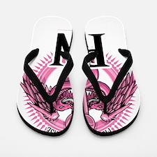 PN-PINK-Caduceus Flip Flops