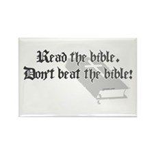 Read/Don't Beat the Bible Rectangle Magnet