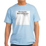 Read/Don't Beat the Bible Light T-Shirt