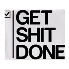 Get Shit Done Throw Blanket