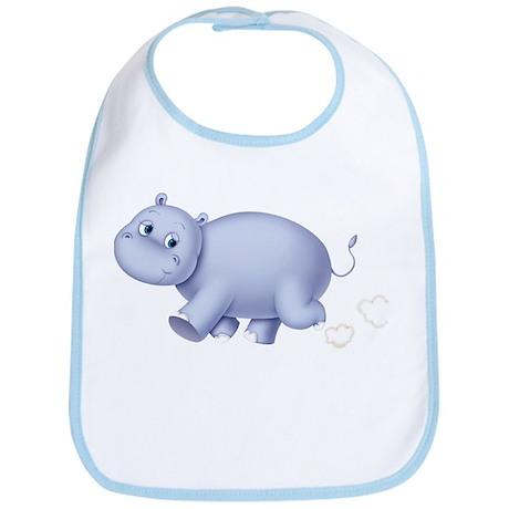 Indigo Hippo Bib