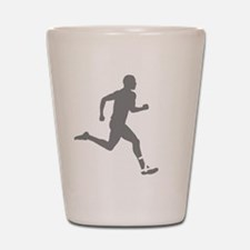 131runner10inBLK Shot Glass