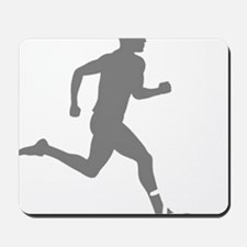 131runner10inBLK Mousepad