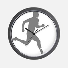 131runner10inBLK Wall Clock