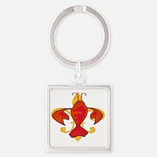 Fleurdecraw6atr Square Keychain