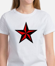 Red Punk Nautical Star Women's T-Shirt