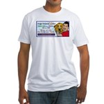 Man Hugs Dog-Color Fitted T-Shirt