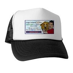 Man Hugs Dog-Color Trucker Hat
