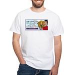 Man Hugs Dog-Color White T-Shirt
