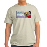 Man Hugs Dog-Color Ash Grey T-Shirt