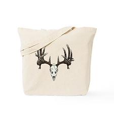 whitetail buck skull d Tote Bag