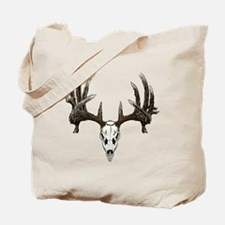 whitetail buck skull d Tote Bag