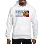Man Hugs Dog-Color Hooded Sweatshirt
