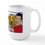 Man Hugs Dog-Color Large Mug