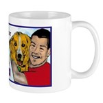 Man Hugs Dog-Color Mug