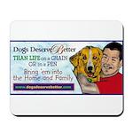 Man Hugs Dog-Color Mousepad