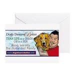 Man Hugs Dog-Color Greeting Cards (Pk of 10)