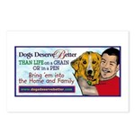 Man Hugs Dog-Color Postcards (Package of 8)