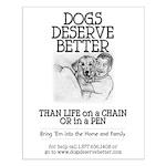 Man Hugs Dog-BW Small Poster