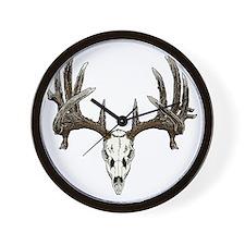 whitetail deer skull Wall Clock