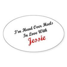 In Love with Jessie Oval Decal