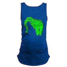 green elephant Maternity Tank Top
