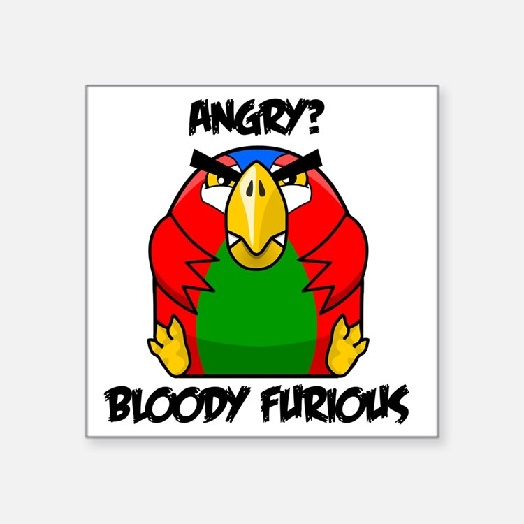 "parrot10x10_apparel2 Square Sticker 3"" x 3"""