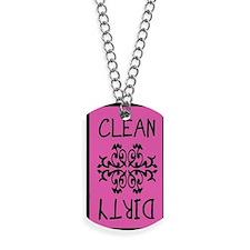 Pink black elegant magnet Dog Tags