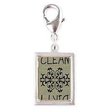 sack cloth magnet Silver Portrait Charm