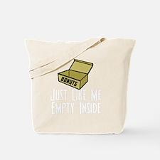 dexteremptyinsidewh Tote Bag