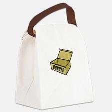 dexteremptyinsidewh Canvas Lunch Bag