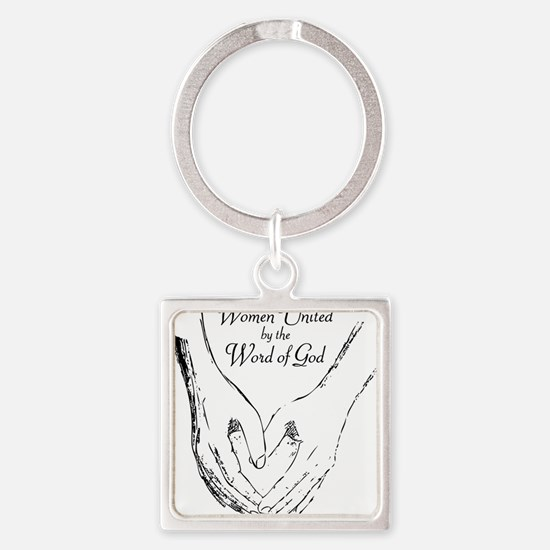 Word of God is love Square Keychain
