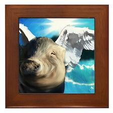 Angel_Pig-TriPodDogDesign Framed Tile