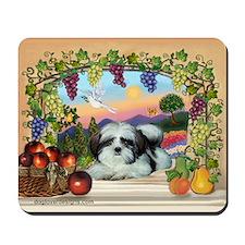 Fruited Arch Shih Tzu Mousepad