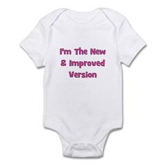 New & Improved Version - Pink Infant Bodysuit
