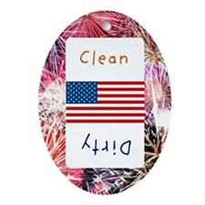 fourth of july Oval Ornament