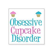 "obsessivecupcakewh Square Sticker 3"" x 3"""
