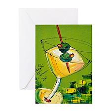 Appletini Greeting Card