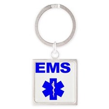 EMS Square Keychain