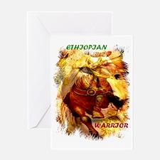 00-ethiopian warrior- a lion Greeting Card