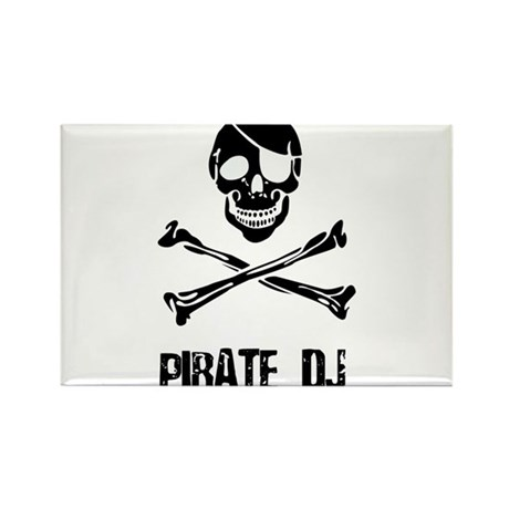 Pirate DJ Rectangle Magnet