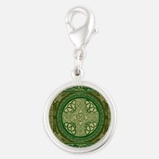 Celtic Blanket Silver Round Charm